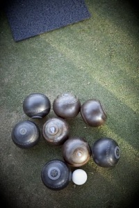 Balls and Bowling Mat