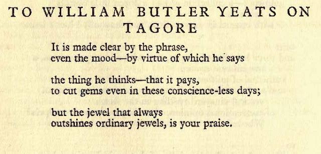 Yeats Tagore